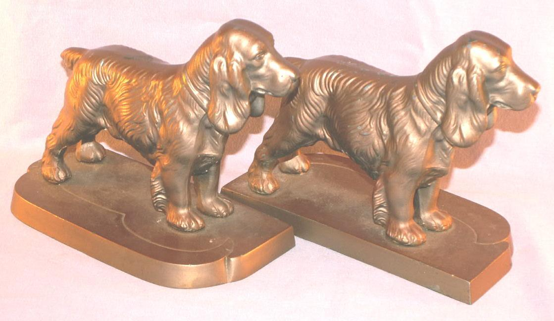 Frankart COCKER SPANIEL Grey Metal Bookends - Metalware