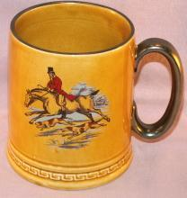 Large HUNTING SCENE Porcelain English Mug