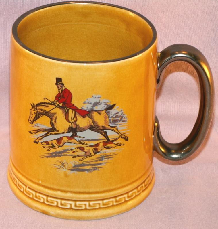 Large HUNTING SCENE Porcelain English Mug