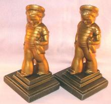 Frankart SAILOR BOY Cast Metal Bookends - Metalware
