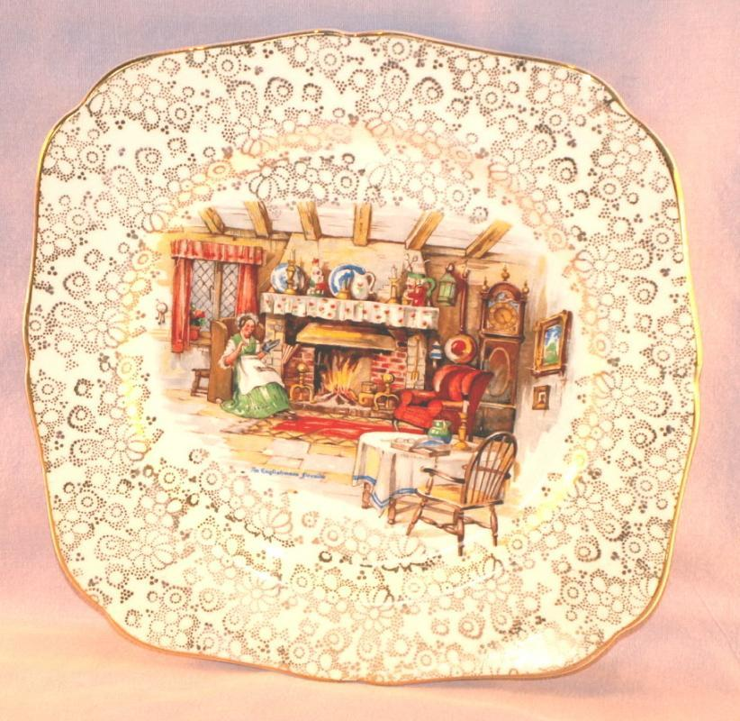 Decorative ENGLISHMAN'S FIRESIDE Porcelain Plate