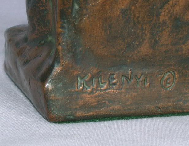 Bronze Clad THE BUILDER bOOKENDS - Metalware