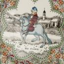 Chaucer's Canterbury Tales Porcelain Plate - THE  FRANKLIN