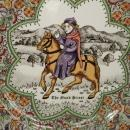 Chaucer's Canterbury Tales Porcelain Plate - THE  NUN'S PRIEST