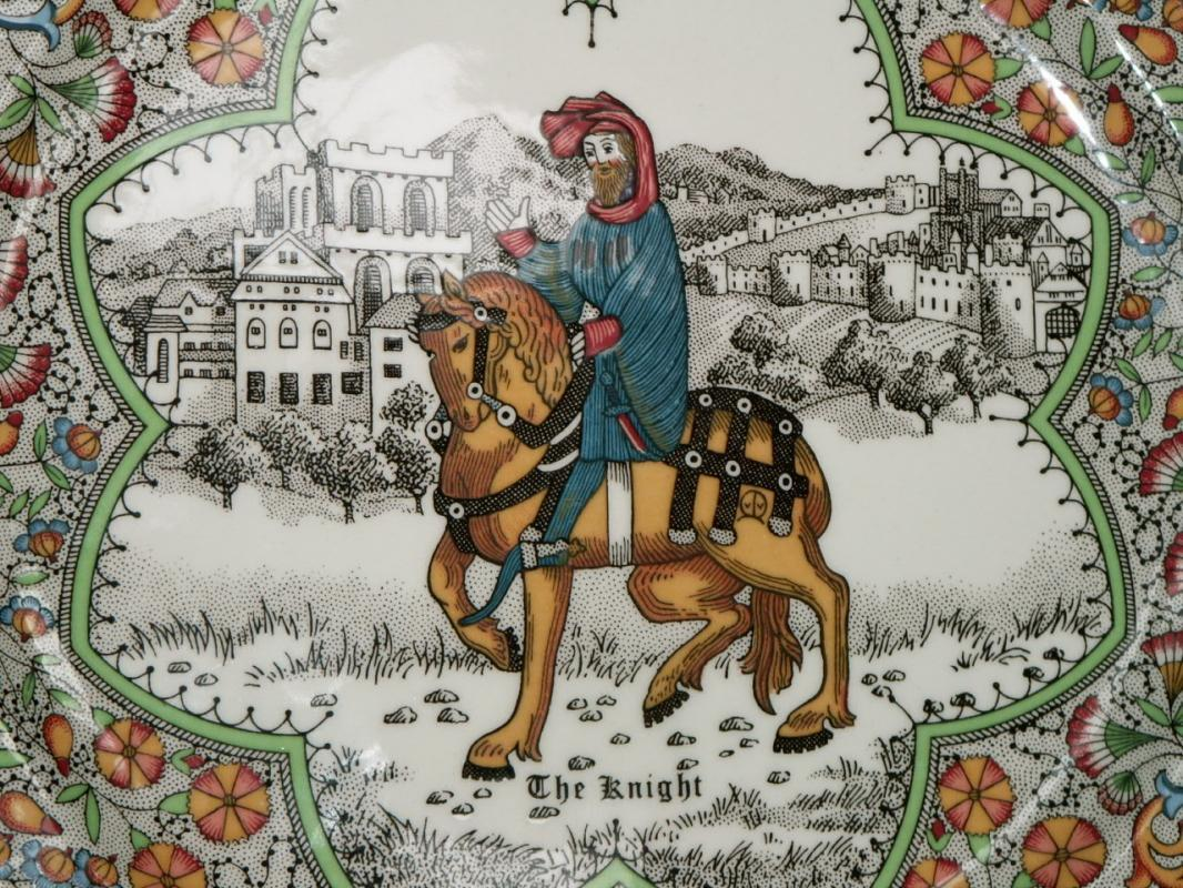 Chaucer's Canterbury Tales Porcelain Plate - THE KNIGHT