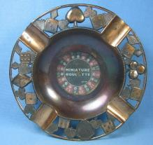 Miniature ROULETTE Game Souvenir Ashtray - Vintage Tobacciana