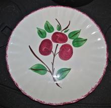 Blue Ridge Cherry Bounce Colonial Plate - Fine Porcelain Pottery
