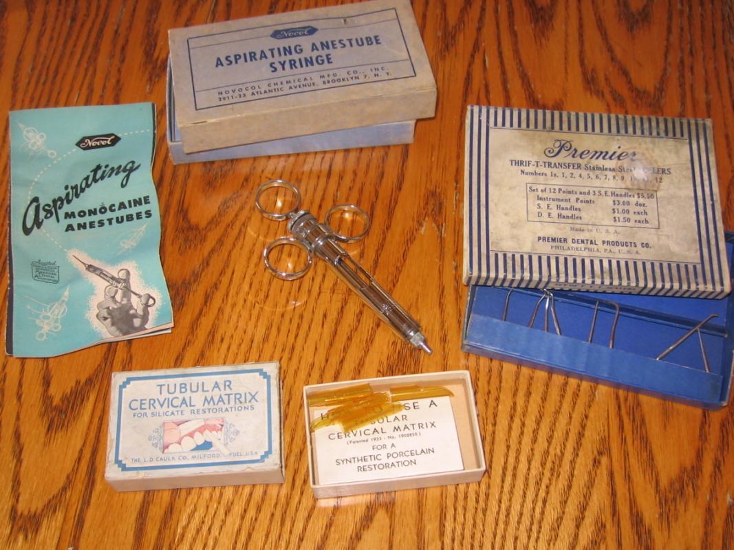 Antique Dental Tool Group ~ Medical Dentist Estate Lot