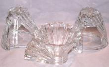 ROSENTHAL Crystal Candleholders and Bowl - Glass