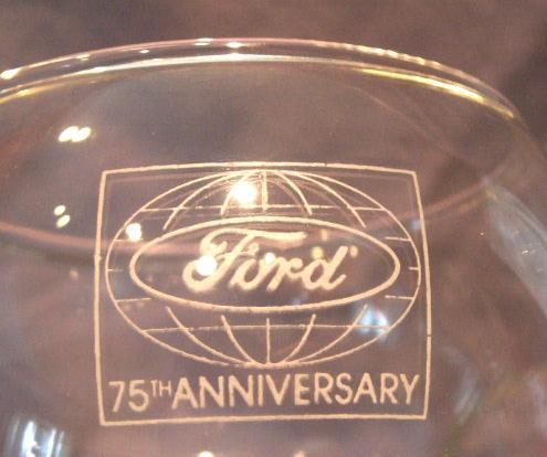 3 FORD 75th Anniversary Champagne Glasses - Advertising