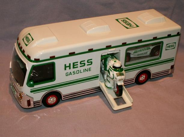 HESS 1998 Recreation Van with Dune Buggy and Motorcycle in Original  Box - Toys
