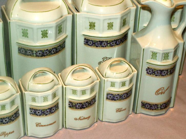 German 28 Piece Porcelain KITCHEN SPICE SET