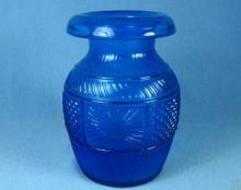 Vintage PAIRPOINT Peacock Blue Glass Vase