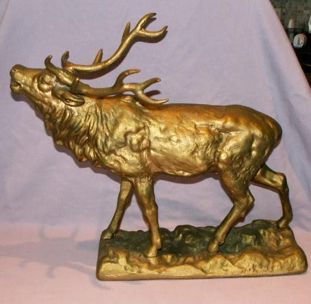 Cast Metal ELK Figurine - Metalware