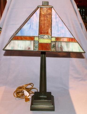 Stained Glass Art Deco Table Lamp - Fine Art & Lamps