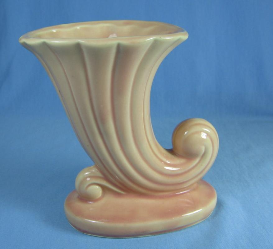 Cornucopia Vase  - Vintage McCoy USA Pottery