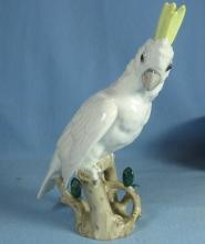 Wien PARROT Bird Figurine - Antique Augarten Porcelain