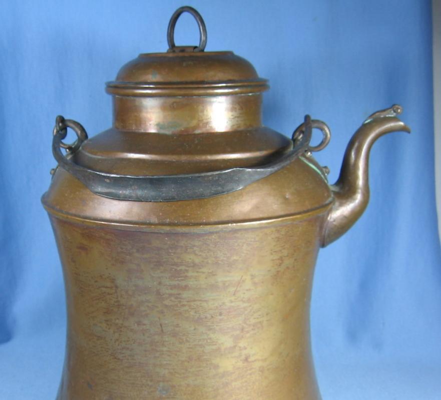 Lumberjack Copper TEAPOT or  COFFEE KETTLE - Antique metalware