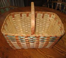 1930's  Basket Splint Ash Wood Native American Indian Woven Basket  - Antique Ethnographic