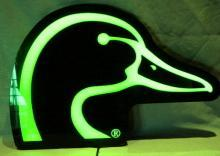 Unique DUCKS UNLIMITED Lighted Head Sign - Sporting