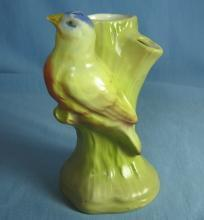 Czech BLUE BIRD Planter Vase - Vintage pottery