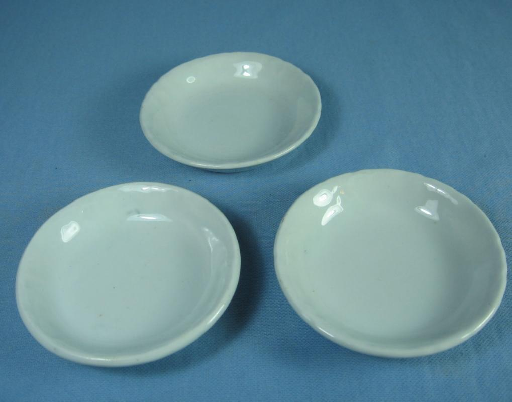 Antique Johnson Bros  BUTTER PAT Group - Antique Ironstone 3pc group