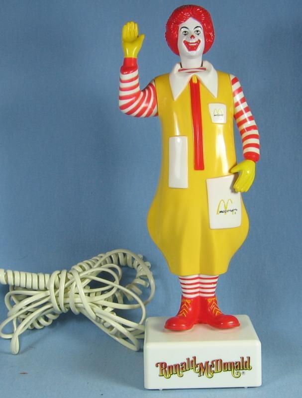 Rare Standing RONALD McDonald TELEPHONE  - 1985 Collectible