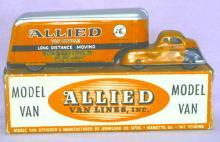 ALLIED VAN LINES Advertising Tin Toy Semi Truck in Original Box
