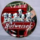 Dalmation 6 Pack BUDWEISER Decorative Porcelain Plate - Advertising