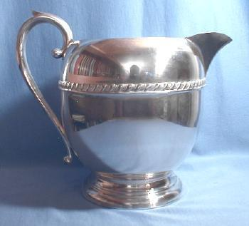 Silver Plate Serving Pitcher - Vintage Metalware