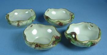NUT DISH Group - MZ Austria Hand Painted Porcelain