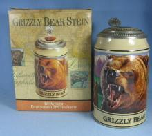 Budweiser Limited Edition GRIZZLY BEAR Collector Stein - advertising