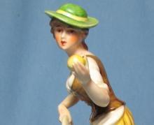 Goebel APPLE GIRL Figurine #FR28 - Vintage Bochmann Germany Porcelain Figure