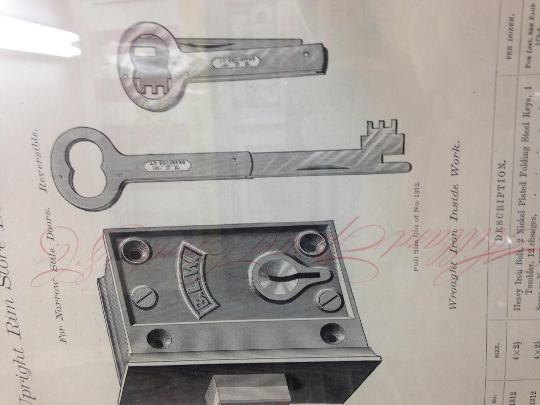 Folding 5 inch  KEY - Metalware