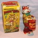 MARX Mechanical FUNNY TIGER Wind up Toy in Original Box