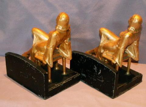 Cast Metal JEAN HARLOW Bookends - Metalware