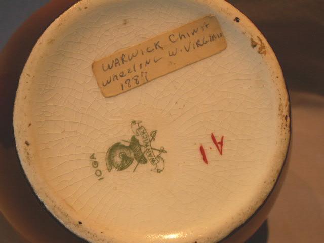 Warwick China Friar Decorated Handled Jug - Pottery