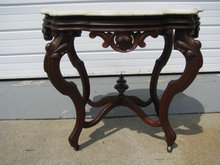 Turtle Top Victorian Marble Top Lamp Table