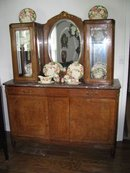 Burled Walnut China Buffet Sideboard