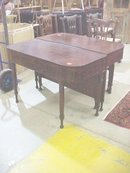 Early Mahogany Banquet Ends Dining Table
