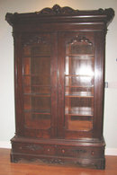 Great Walnut Victorian Bookcase
