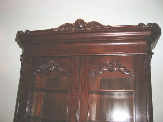 Great Walnut Victorian Bookcase