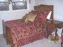 French Bed and Armoire Set - Inlaid - 2 piece