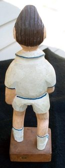 WOOD MAN SPORTS FIGURINE -CARVED -