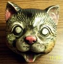 WELL DETAILED PORCELAIN CAT HEAD