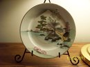 HAND PAINTED SCENIC JAPANESE PLATE
