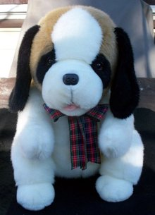 LARGE STUFFED AND PLUSH ST. BERNARD LOOKING FOR A GOOD HOME