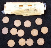 50 1935 PENNIES WITH OLD WRAPPER