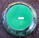 GREEN MARBLE CANDLE HOLDER OR PAPER WEIGHT