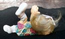 CAST ART SIGNED BY KRISTIN FIGURINE OF CLOWN LADY?? OR HENNIETA ? 1994 SHELF SITTER
